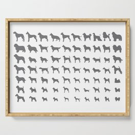 All Dogs (Grey/White) Serving Tray