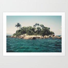 Lost Paradise Off the Coast of Ilha Grande, Brazil Art Print