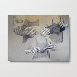 Grandpa's Hands Metal Print