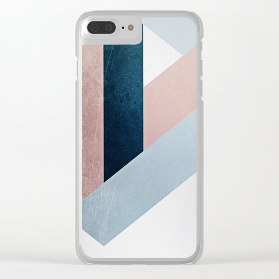 Complex Triangle Clear iPhone Case