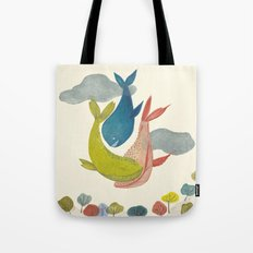 It' s raining Whales  Tote Bag