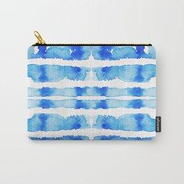 Indigo Watercolor Shibori Carry-All Pouch