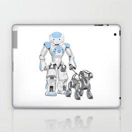 The Dog Walker. (Blue) Laptop & iPad Skin