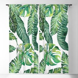 Jungle Leaves, Banana, Monstera #society6 Blackout Curtain