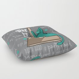 cats hard party Floor Pillow