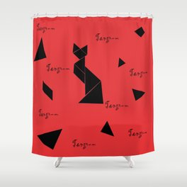 tangram collection Shower Curtain
