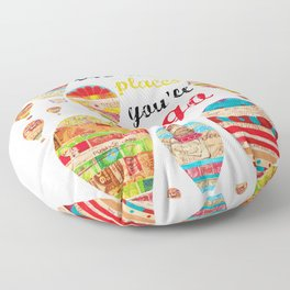 Oh The Places You'll Go, Print Floor Pillow