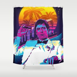 Scarface retro art Shower Curtain