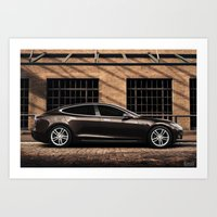 tesla Art Prints featuring Tesla by EvoG Photography