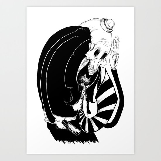 Marmalade Grim Art Print