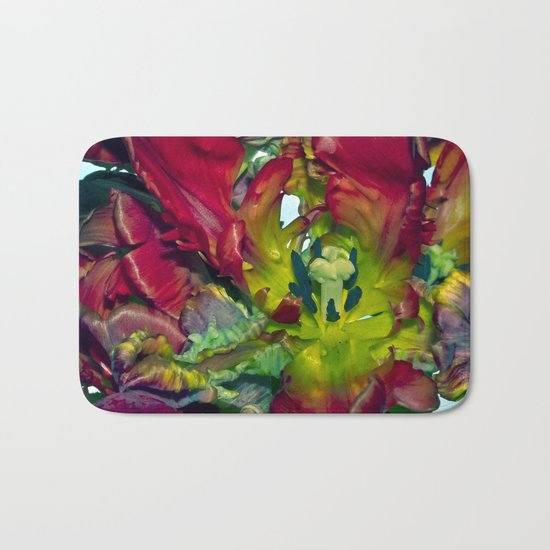 Still life with Red Tulips Bath Mat