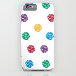 Mana Spin-downs - Red, Yellow, Green, Blue & Purple iPhone Case