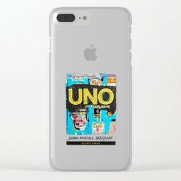 uno card basquiat Clear iPhone Case