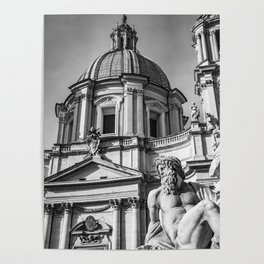 Piazza Navona, the ancient Stadium of Domitian, in Rome, Italy Poster