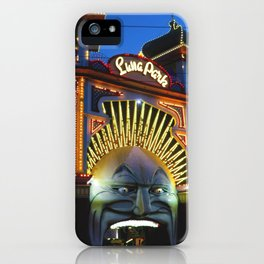 Luna Park at Night Fall iPhone Case