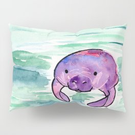 Manatee Lives in the Sea Pillow Sham