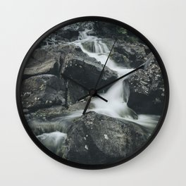 Snowdonia Waterfall Wall Clock