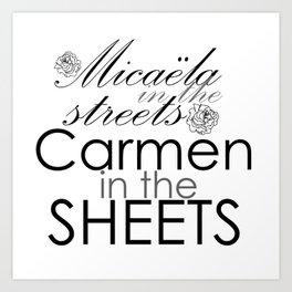 Micaëla in the streets, Carmen in the streets Art Print