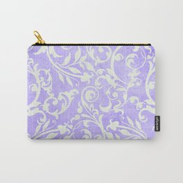 Shabby Chic purple damask Carry-All Pouch