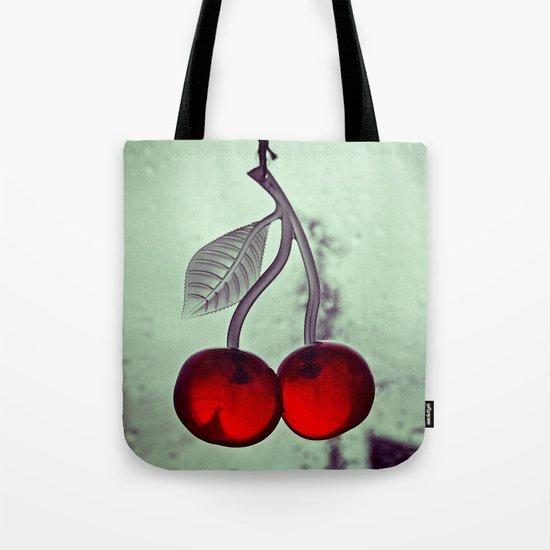 Retro cherry details Tote Bag