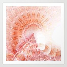 Mandala abstract landscape Art Print