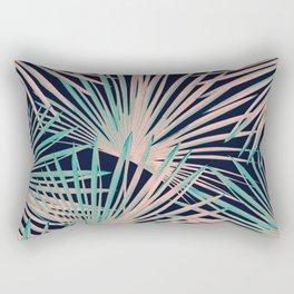 Tropical Fan Palm Leaves #5 #tropical #decor #art #society6 Rectangular Pillow