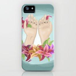 Take Time iPhone Case