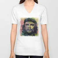 che V-neck T-shirts featuring Che Guevara by Michael Creese