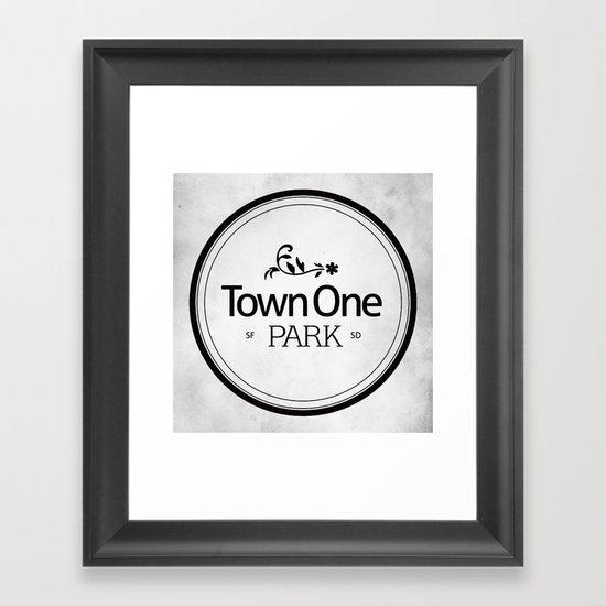 Town One Park Framed Art Print