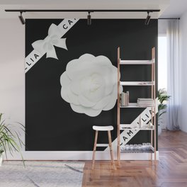camellia with bow Wall Mural