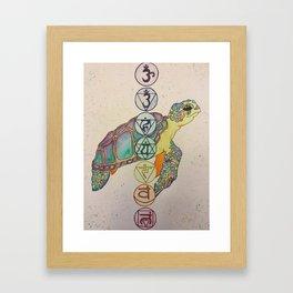 Chakra Turtle Framed Art Print