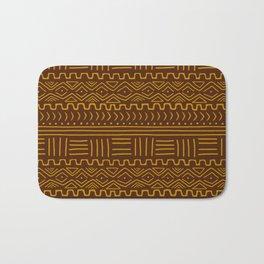 Mud Cloth on Brown Bath Mat