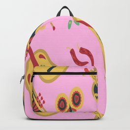 Guitars Pattern Music Band Rock Gift for Musician Backpack