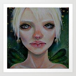 Green Faerie ~ Tink's sister Art Print