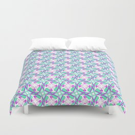 Cool Mint Kiss Bubble Gum Pink Simple Abstract Mint Candy Spirit Organic Duvet Cover