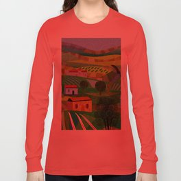 Santa Barbara Wine and Cheese Long Sleeve T-shirt