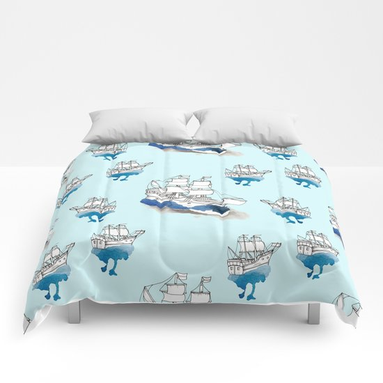 Ships Pattern Comforters