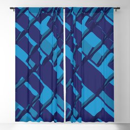 3D Abstract Futuristic Background X. 14 Blackout Curtain