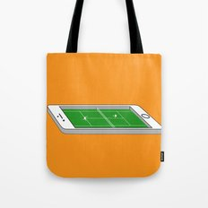 Tennis on an iPhone Tote Bag
