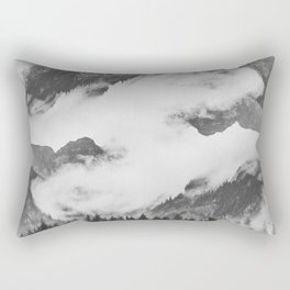 Misty Mountain II B&W Rectangular Pillow