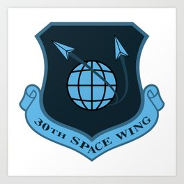Space Force - Space Wing (Blue) Art Print