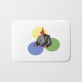 Abstract Collage Bath Mat