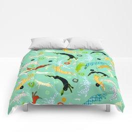 Flying rabbits Comforters