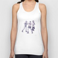 freud Tank Tops featuring Freud, Jung, and Watts, walk into a bar... by Salgood Sam