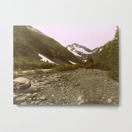 To the Mountains we go   Photography Metal Print