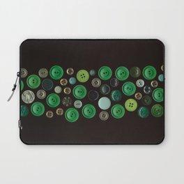 Green Buttons Scanograph Laptop Sleeve