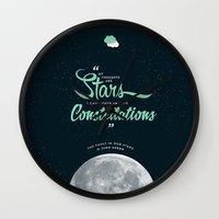 fault Wall Clocks featuring The Fault in Our Stars by thatfandomshop