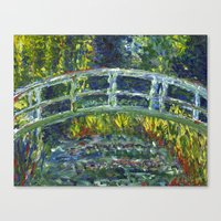 monet Canvas Prints featuring Monet Interpretation by Britt Miller Art