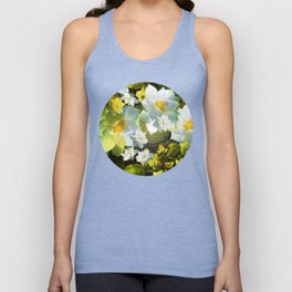 """""""White flowers forest"""" Unisex Tank Top"""