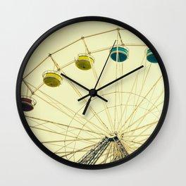 Retro Ferris Wheel Wall Clock